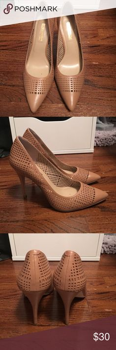 Pointy toe Pumps Tan sexy pointed toe unique design pumps BCBGeneration Shoes Heels