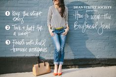How to Wear BoyfriendJeans // Please re-pin & share these stylish tips for all!