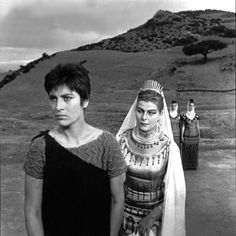 """Irene Papas and Aleka Katselli in """"Electra"""" (Greek: Ηλέκτρα) dir. by Michael Cacoyannis, 1962 Irene Papas, Ancient Names, Writers And Poets, Greek Art, Classic Movies, Vintage Photos, The Past, Cinema, Memories"""