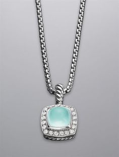 ShopStyle:+David+YurmanPetite+Albion+Necklace,+Aqua+Chalcedony