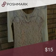 Gimmicks top Cream lacey top size S but fits like a medium  Great condition. Buckle Tops Blouses