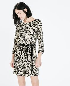 Image 2 of ANIMAL PRINT ZIP DRESS from Zara