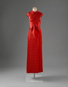 Evening dress Designer: Claire McCardell (American, 1905–1958) Manufacturer: Townley Frocks (American) Date: 1950 Culture: American Medium: silk