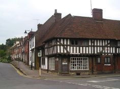 The village of Lenham in Kent, England