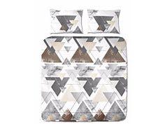 Posteľné obliečky s geometrickými vzormi Quilts, Blanket, Bed, Home, Stream Bed, Quilt Sets, Ad Home, Blankets, Homes