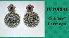 """Tutorial perline: orecchini """"October"""" con superduo e o'beads Beading Tut..."""