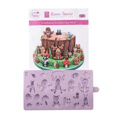 Karen Davies Silicone Mould WOODLAND Animals Cupcake Party, Cupcake Cakes, Cupcakes, Karen Davies Moulds, Fir Cones, Edible Paint, Baby Hedgehog, Food Website, Sugar Paste