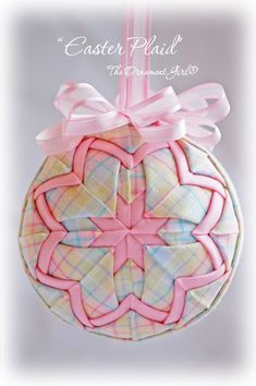 Pastel Plaid Ornament | Easter Ornament | Handmade with Longaberger Fabric  Inspiration!