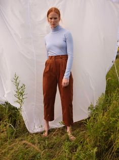 The ADAMO | Powder blue turtleneck | is our new favourite basic item. 93% cotton, 7% polyurethane (Korea), made in Montreal. Black Sweater Dress, Black Sweaters, Blue And Copper, Fall Collections, Blue Pants, Corduroy Pants, Green Stripes, Ethical Fashion, Wool Coat