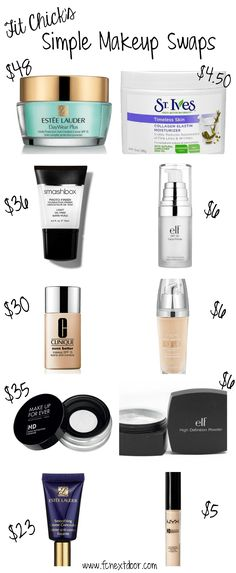 Fit Chick's Simple Makeup Swaps - Vol 1                                                                                                                                                                                 More #makeuptips