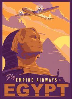 Old Egypt, Egypt Art, Illustrations Vintage, Illustration Art, Art Deco Posters, Poster Prints, Poster Retro, Egypt Travel, Art Graphique