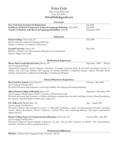 Speech Pathology Cover Letter how to write a cover letter resume cover letter for writing cover wordpress 2013 10 12 Speech Pathologist Resume Example Google Search