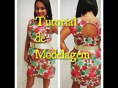 Tutorial de Modelagem - Vestido Tubinho com Recorte - YouTube