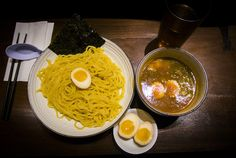 Tsukemen Ramen with Extra Egg from Taishoken in Vancouver, BC #foodporn #foodie