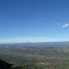 Panoràmica de la Plana del Montsià i del Port des de la serra de Montsià