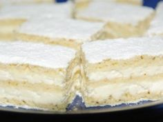 Pihe-puha túrós süti | NOSALTY Hungarian Desserts, Hungarian Recipes, Sweet Desserts, Sweet Recipes, Vanilla Cake, Recipies, Cheesecake, Deserts, Food And Drink