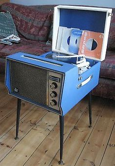SUPER DANSETTE vintage retro 1960s Hi-Fi record player on legs, restored