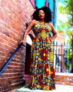 Sayma African Print Maxi Dress