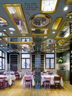 The ceiling mirrors. #decor #interior #design #color #details #modern…