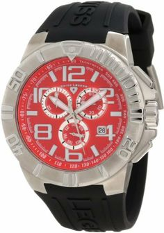 Swiss Legend Men's 40118-05 Super Shield Chronograph Red Dial Watch Swiss Legend. $88.00. Save 87% Off!