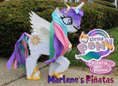 Piñata de unicornio la princesa Celestia... por Marlenespinatas