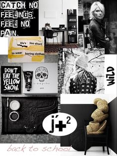 Méchant Design: 'back to school' moodboard ✚ ✚ ✚