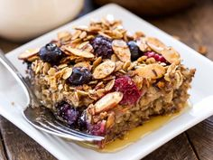 Did you know Silk® has a ton of Smoothie Solutions, like thisCinnamon Apple Berry Baked Granola?