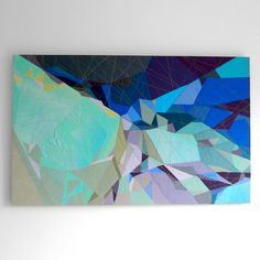 Artist Sarah Symes works with fabric instead of paint to create rich colorful abstract art inspired by traveling + landscapes rich with texture and depth.