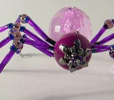 Beaded Spider Purple Violet Plum Lavender by AuroraRosealis, $15.00