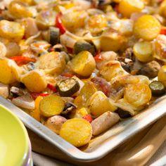 Raclette vom Backblech
