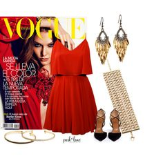 Rojo by parklanejewelry on Polyvore featuring Lavender Brown, Aquazzura, gold, Chains, springfashion, parklanejewelry and nightfashion