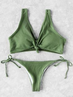 3d0b418f35 Nadia Olive Bikini Carefully handmade Matching swim set Knotted front bikini  top Side-tie cheeky bottoms Material  Polyester Available in three sizes  Please ...