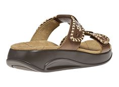 Subtle #stitching detail added to a graceful t-bar #strap make for a #stylish #sandal. #shoes -$124.99