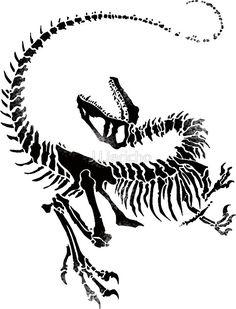 Jurassic Park Velociraptor Skeleton Tattoo velociraptor sk...