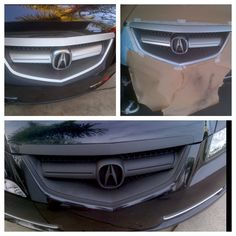 Plasti Dipped My Front Grille! Acura TL!
