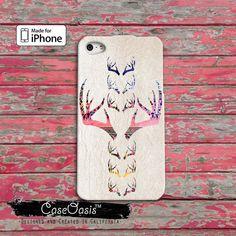 Deer Antler Tribal Vintage Look Cool Cute Pink by CaseOasis, $14.99