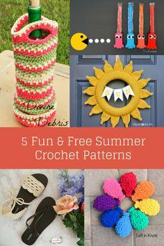 5 Fun & Free Summer Crochet Patterns | Free Patterns | Summer | Crochet