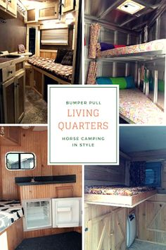 Bumper Pull Living Quarters Horse Trailer - How to Go Horse Camping: Horse Camping in Style