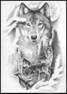 (notitle) Machen will Wolf Sleeve, Wolf Tattoo Sleeve, Sleeve Tattoos, Wolf Images, Wolf Pictures, Bild Tattoos, Body Art Tattoos, Circle Tattoos, Tattoo Ink