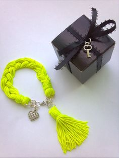 braided fringe charm bracelet