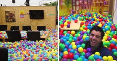 Boss Surprises Employees With Balls | Bored Panda