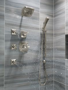 The Tesla™ Custom Shower. Part of the new Delta® Tesla Bath Collection, coming to showrooms in August 2015. #DeltaInspiredPro