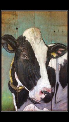 Cow Paintings On Canvas, Animal Paintings, Animal Drawings, Art Drawings, Canvas Art, Pallet Painting, Pallet Art, Afrique Art, Farm Art