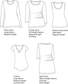 Wardrobe Builder T-shirt pattern variations 5/150 $8.50