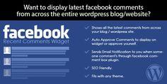 Facebook Recent Comments Widget for Wordpress - #Wordpress #Plugins