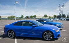 Beautiful   Audi Exclusive Sepang Blue Audi RS 5 and Sprint Blue Audi S5