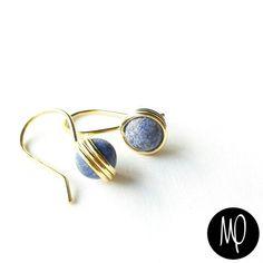 Zarcillos - Lapislázuli - Baño de oro