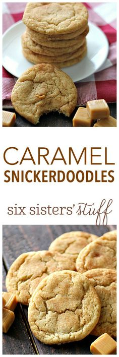 Soft Caramel Snickerdoodles on SixSistersStuff.com - seriously the best snickerdoodle!!