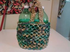 Recycled market bag made from plastic bags