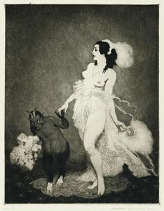 Today's Classic: The Illustrations of Norman Lindsay Don Juan in Hell C Sharp Minor Quartet Enter the Magicians Debut Tom O'Bedlam The. Norman Lindsay, Illustrations, Illustration Art, Image Halloween, Image Nature, Images Vintage, Vintage Artwork, Candy Art, Eye Candy